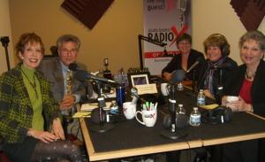 l-r: Deborah Schwartz Griffin, host Dr. Tim Morrison, host Vanessa Lowry, Essie Escobedo, and Linda Zuk